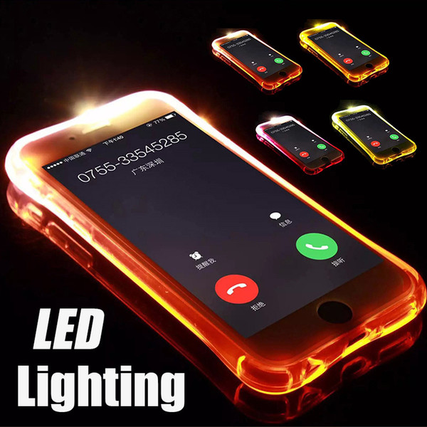 Call Lightning Flash LED leuchtet stoßfest weiche TPU-Hülle Hülle für iPhone XS Max XR X 8 7 6 Plus 5 Samsung Galaxy S10 E S9 S8 Note 9