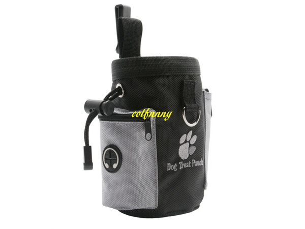 50pcs/lot Fast shipping Dog Pet Puppy Obedience Agility Bait Training Food Treat Pouch Bag Dispenser Snack Reward Waist Bag