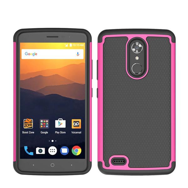 Resistente aos choques robusto híbrido phone case capa para iphone xs max x 8 6 plus 5se samsung a7 2018 j3 2018 zte lâmina x max opp