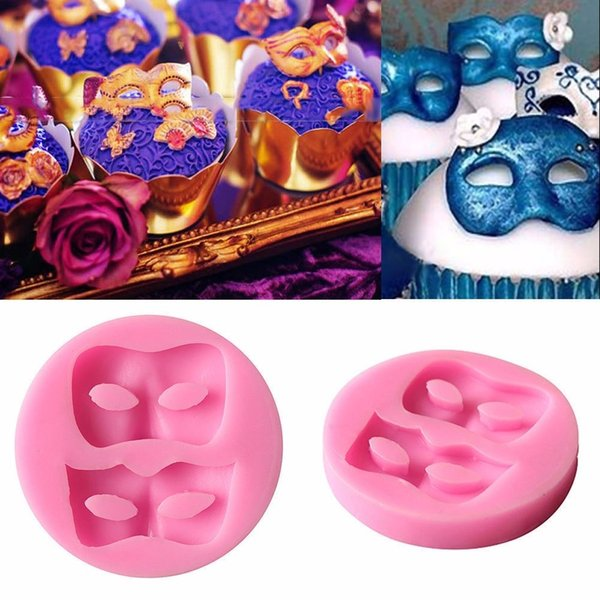 3D Maske Silikon Fondantform Kuchen Dekorieren Schokoladen Backform SugarcraCP