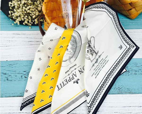 best selling Pure cotton Table napkins European style tea towel mattress linen padded mats Western restaurant home non - slip mouth towel