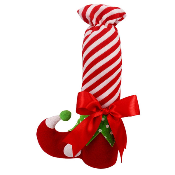 Wholesale- 1PC Christmas Ornament 2016 Brand Newest Cute Santa Stocking Xmas Trees Decor Wedding Party Candy Wine Bags Xmas Gift Supplies