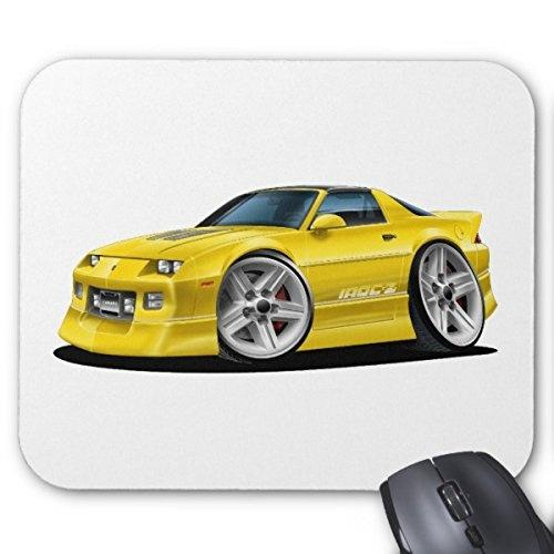 Generisches kundenspezifisches Gummi-Mousepad Gaming Mouse Pad 1982-92 Camaro Yellow Car Mouse Pad