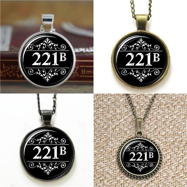 10pcs 221B Baker St Sherlock Holmes Ispirato in vetro Foto collana portachiavi segnalibro gemello braccialetto orecchino