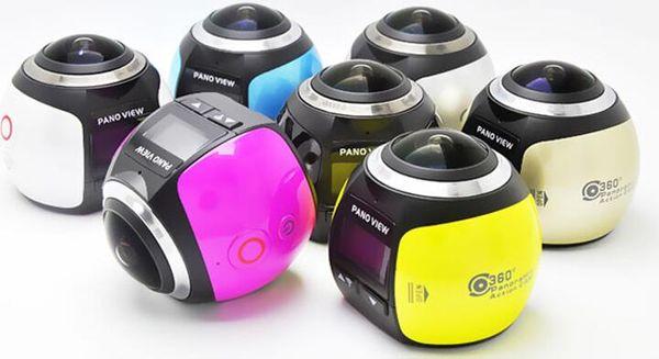 hot selling 360 Degree 4K Mini Video Camera Panorama 3D VR Ultra HD 360 *220 Camera 30 Meters Diving Actoin Waterproof Sports Camera