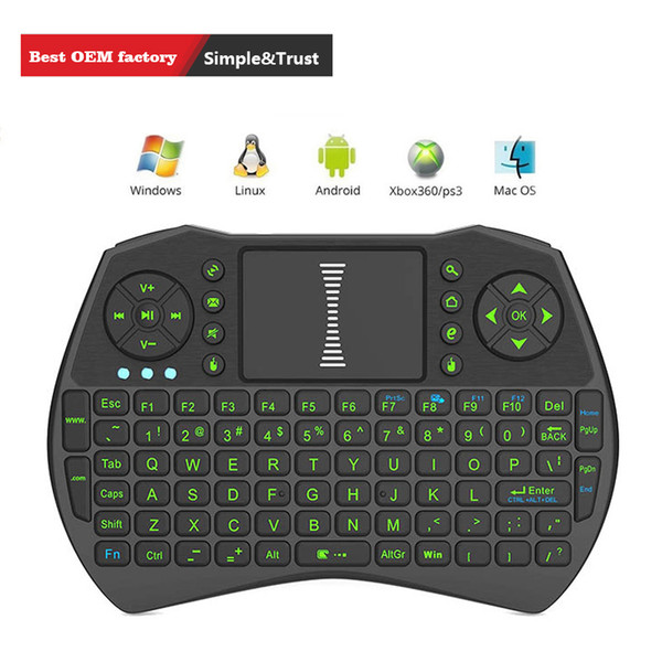 Rii i9 Mini keyboards Fly Air Mouse Multi-Media Remote Control Touchpad Handheld Bluetooth Wireless Keyboard For Android TV BOX Computer