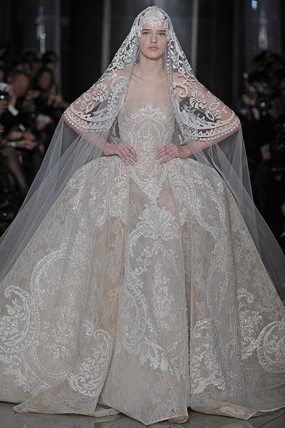 Luxury Dubai Bridal Sequin Lace Wedding Dresses 2017 Elie Saab ...