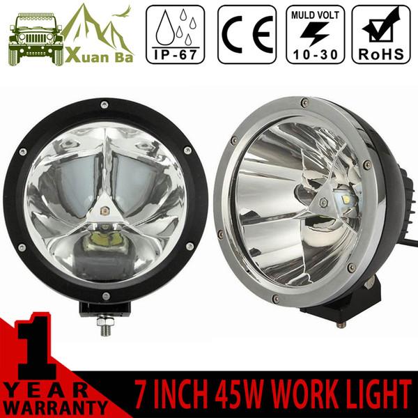 XuanBa 2Pcs Cree 7 pollici 45W rotondo Led lavoro fascio di luce 12V 4x4 fuoristrada camion della barca SUV ATV faro luci di guida 24V fendinebbia