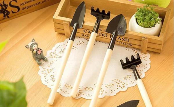 3 pcs/set Mini Garden Tools Small Shovel Rake Spade Micro Plant Tools DIy Micro Garden Tools Gardening Supplies