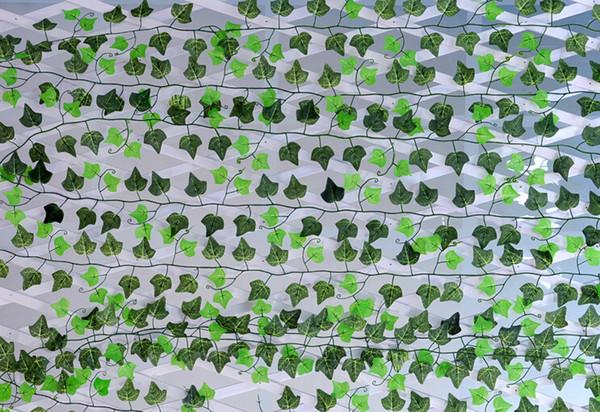 250cm Artificial Silk Simulation creeper Climbing Vines Green Leaf Ivy Rattan for Home fence Decor Bar Restaurant Wedding Decoration