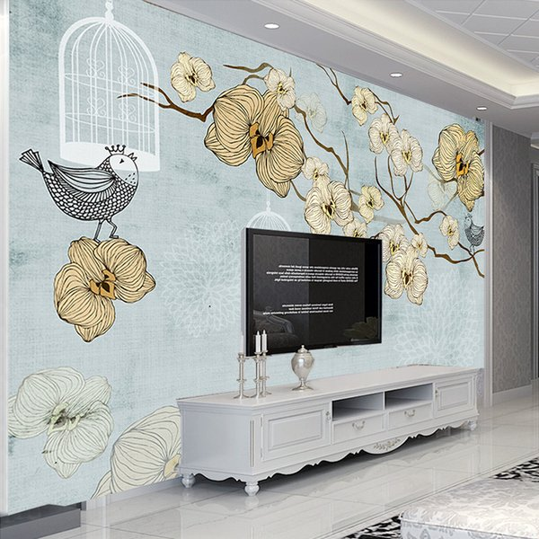 Custom Wall Murals European Style Abstract Art Oil Painting Fresco Leisure Home Living Room Bedroom Decoration Mural wallpapers
