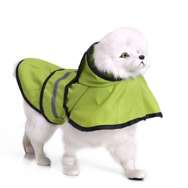 Pet Dog Raincoat Dog Waterproof Windproof Reflect Rainwear Pet Safety Walking Rain Coat Golden Retriever Poncho 8 Sizes