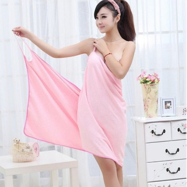 099f557557 Wearable Absorbent Bath Towel Fast Dry Magic Women Beach Spa Bathrobes Bath  Skirt Lady Wearable Drying