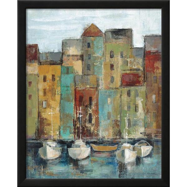 Pintados à mão Abstrata pintura a óleo Vince Cidade Velha Porto Silvia Vassileva arte moderna óleo sobre tela decoração da sua casa