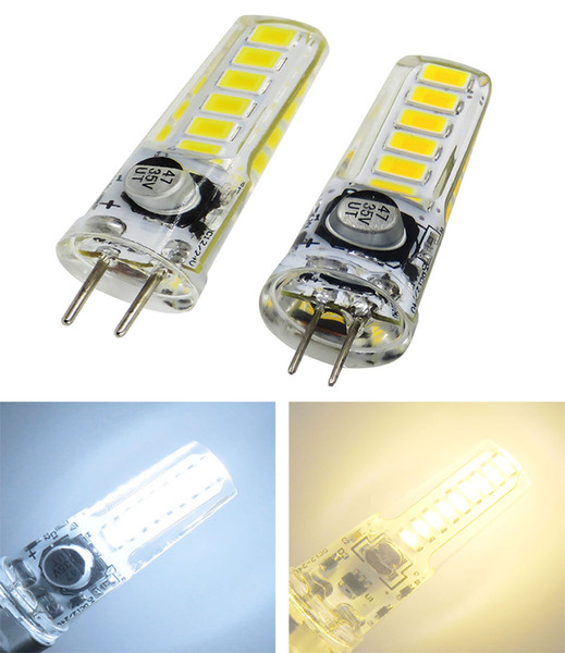 G4 GY6.35 LED ampoule CC à courant alternatif 12V-24V 2W 200LM 12-5730 SMD Silicone Lustre Transparent Lecture Crystal Light Droplight Lampe Blanc / Chaud