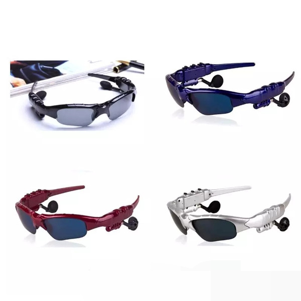 2017 BTglasses Sunglasses With Bluetooth Earphones Wireless Sports Headphone Sunglass Handsfree Earphones 4 colors Free DHL