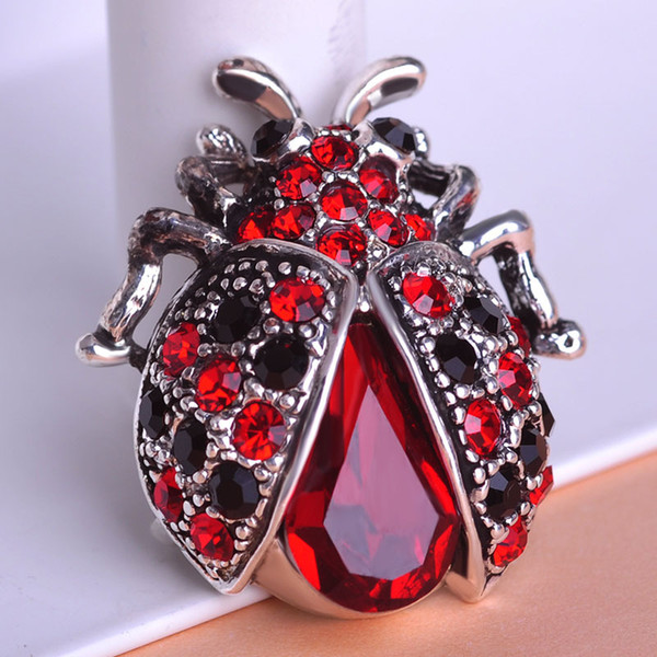 Vintage Jewelry Insects Beetle Ruby Antisilver Cheap Crystal Brooches Bouquet Antique Fleur De Lis Brooch Pins Jewellerys Lot