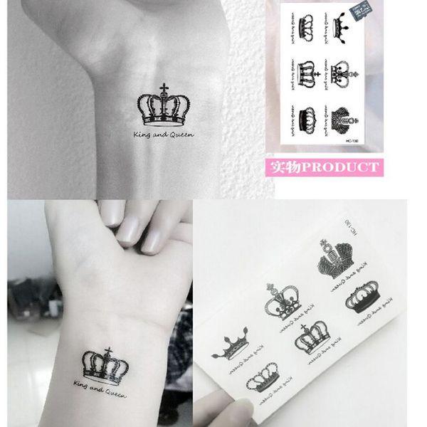 Мода Имперская Корона Быстрые Поддельные Татуировки Небольшие Шрамы Обложка Боди-Арт Татуировки Водонепроницаемый Наклейки 50 шт. / Лот свободный корабль