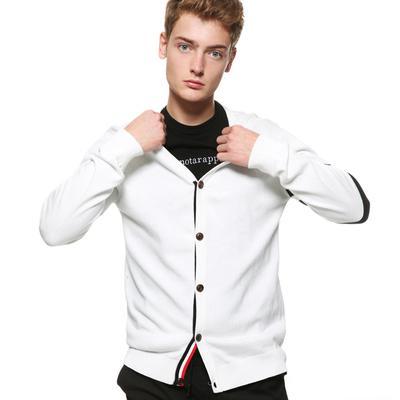 Toptan-New England erkek kazak Enstitüsü rüzgar saçak Metrosexual moda örgü hırka kazak