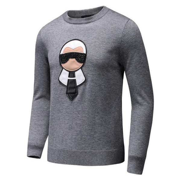Nail bead galeries lafayette printing Winter Casual Sweater Brand Clothing Long Sleeve Mens Sweaters classic Shirt Pullover O-Neck Knitwear