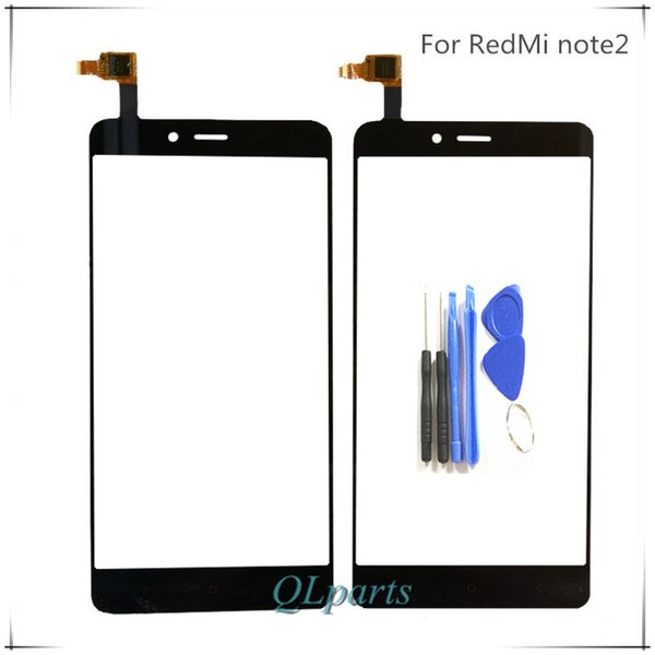 """Wholesale- 5.5 """" Phone Touchscreen Sensor For Xiaomi Redmi Note2 Hongmi Note 2 Touch Screen Front Glass Panel Digitizer Tools Replacement"""