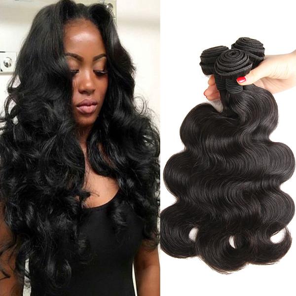 10A Brésiliens Vierge Cheveux Corps Vague 4 Bundles Vison Brésilien Corps Vague de Cheveux Humains Tisse Péruvienne Malaisienne Indien Cheveux Bundle Offres