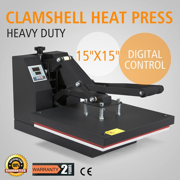 2018 Heat Press Digital Clamshell Heat Press Machine Sublimation Vinyl Heat  Press Machine For T Shirts 15x15 Inch Digital LCD Timer 15x15 Inch From