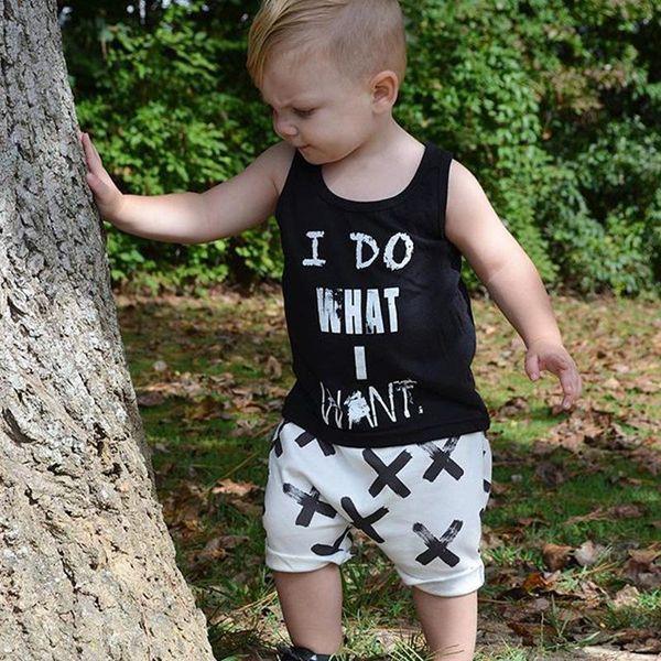 Baby I DO WHAT I WANT 2pcS set 2017 boy spring summer Letter T-Shirt+batman xx print Pants Outfits boys girl cotton vest Clothing Sets