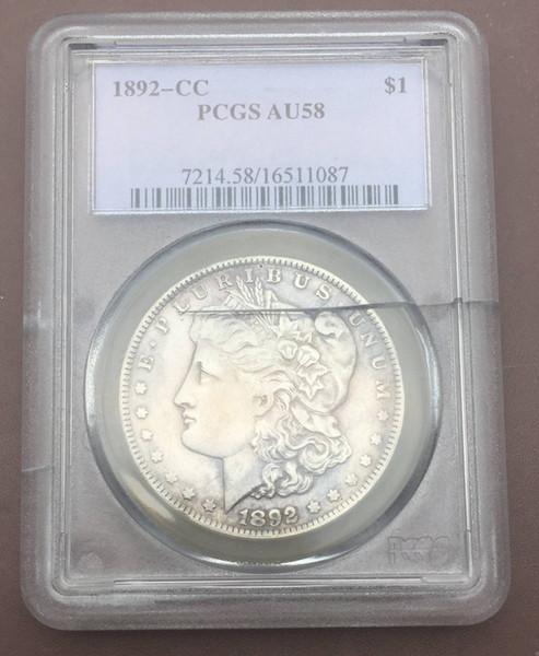1892-cc Morgan America a coin of 90% Sterling Silver grade [PCGS] box box