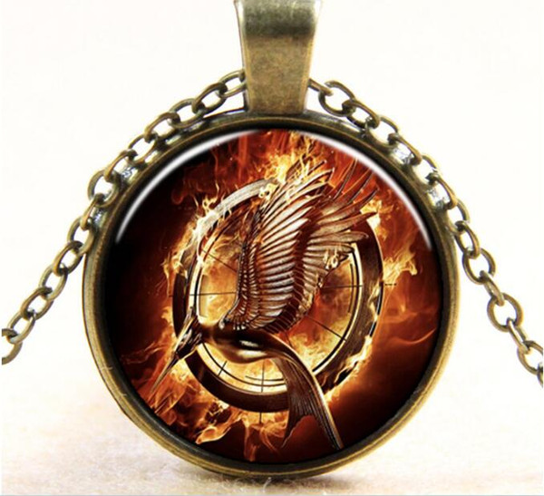 Free Shipping Europe and the United States hot Movie series Hunger Games Mocking bird pattern Necklace #3265