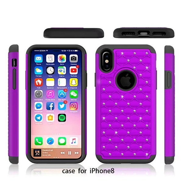 release date 97713 82d18 For Iphone X 8 Galaxy S8 Active Phone Case For ZTE Blade Z Max Pro 2/Z982  Metropcs Hybrid Rhinestone Phone Cover Silicone Phone Cases Cell Phone  Cover ...