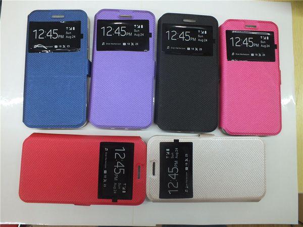 Per LG Q6 G6 X Power V20 VS880 Google Pixel XL Nokia 3 5 6 3310 2017 Custodia protettiva in pelle per fodere Custodia in pelle con supporto per finestra aperta