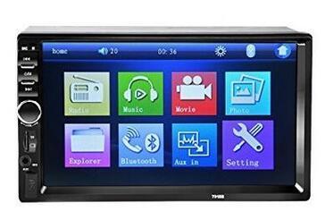 Car Stereo da 7 pollici HD Touch Screen 2 Din In-Dash MP5 con radio FM / USB AUX / telefono LinK Bluetooth
