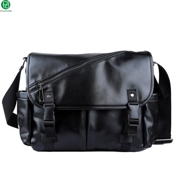 Wholesale- casual leather <b>men</b> messenger bags <b>vintage large</b> ...
