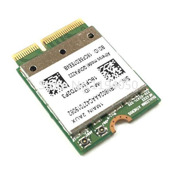 Wholesale- Atheros QCNFA222 AR5BWB222 802.11a/b/g/n Wireless WIFI Bluetooth Card 2.4GHz 5GHz WiFi + BT 4.0 NGFF Wlan