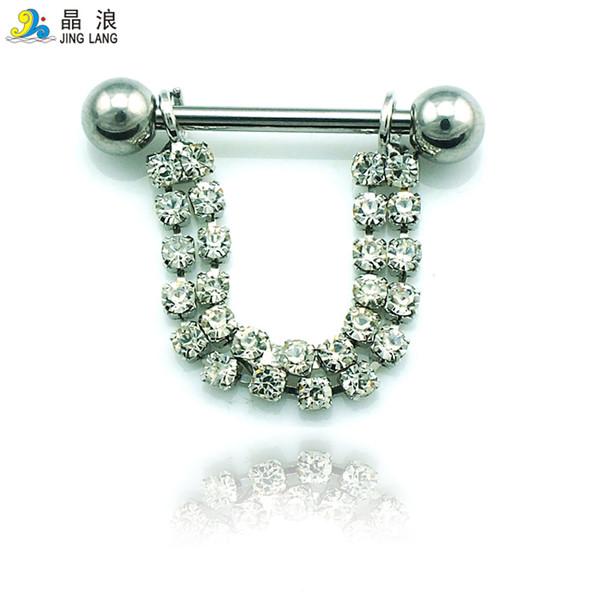Nuovo! L'acciaio chirurgico d'argento di alta qualità di modo di alta qualità d'argento del semicerchio squilla gli anelli per i monili del corpo delle donne