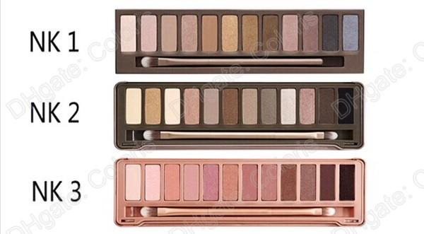 12 color eyeshadow nude eye shadow 1 2 3 palette three style together eyeshadow palette with brush