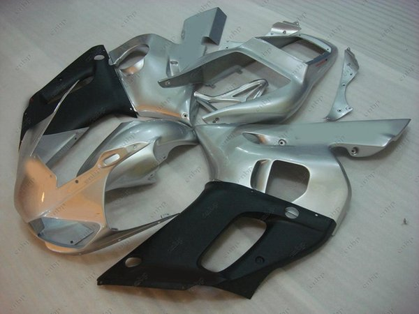 Carenados de plástico YZF600 R6 2002 de carenado de ABS YZFR6 1998 Juegos de cuerpo completo de plateado negro para YAMAHA YZFR6 1999 1998 - 2002