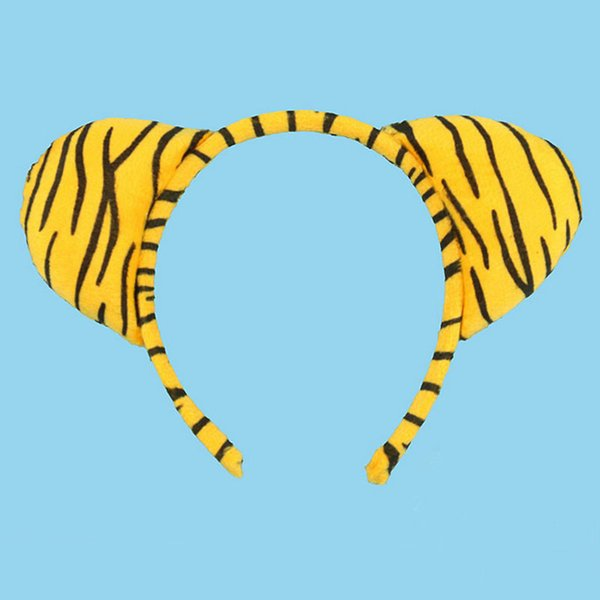 2017 Kids Tiger Animal Ear Headband for Kids Children Hair Accessories Birthday Party Halloween Cosplay Christmas Gift