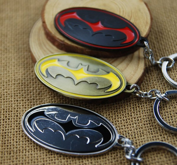 Hot Sale Movie Jewelry Superman Key Chain Batman Pendant Fashion Men Women Key Ring Alloy Keychain 3 Colors Free Shipping