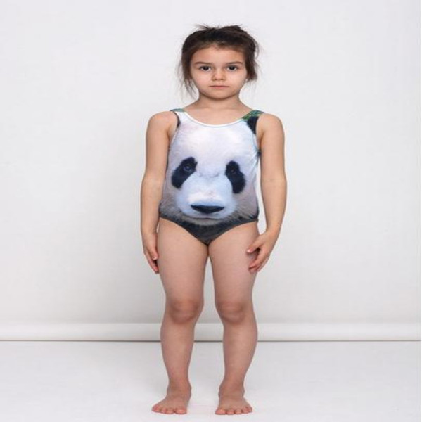 Baby Girl Swimsuit 2017 3D Animal Printed Kids Swimwear Summer Swimming One Piece Panda Tiger Rabbit Children Beachwear 80-110cm