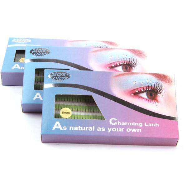 Natural 2d False Eyelashes High Quality Individual Imitate Mink Fake Eye Lashes 0.15mm Silk eyelash extension makeup