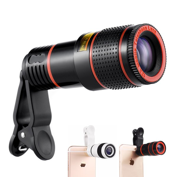 Phone Telescope Lens 8x Zoom Universal Optical Camera Telephoto Lens with clip for iphone Samsung HTC Sony LG mobile smart cell phone