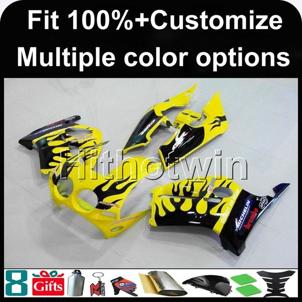 23colors+Gifts Injection mold yellow black ABS motor Fairings For honda CBR250RR MC19 1988-1989 MC19 88 89 Aftermarket Motorcycle cowl