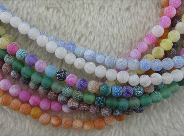 wholesale Natural gem Dragon Agate Bead Loose Strands Semi-precious Stone diy Round Beaded Jewellery Accessories Beads Size:8mm