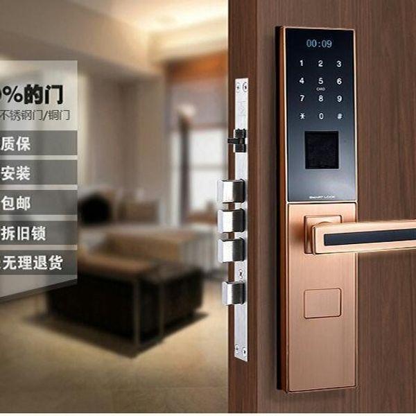 ... Top Intelligent fingerprint door lock biometric with good quality Card key password finger scan open with ... & 2018 Top Intelligent Fingerprint Door Lock Biometric With Good ...