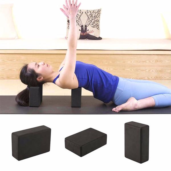 Al por mayor-HOT Mujeres Hombres de alta densidad GYM Ejercicio Ronda Yoga Bloque de ladrillo Eva Foam Fitness Yoga Training Equipment 2 colores Negro Rose Red