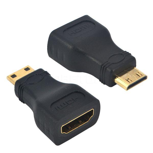 Wholesale-6Pcs / Set 2015 Nuevo Mini Adaptador HDMI a HDMI Convertidor hembra a macho para HDMI HD 1080P Dispositivo adaptador de cable para HDTV, etc.