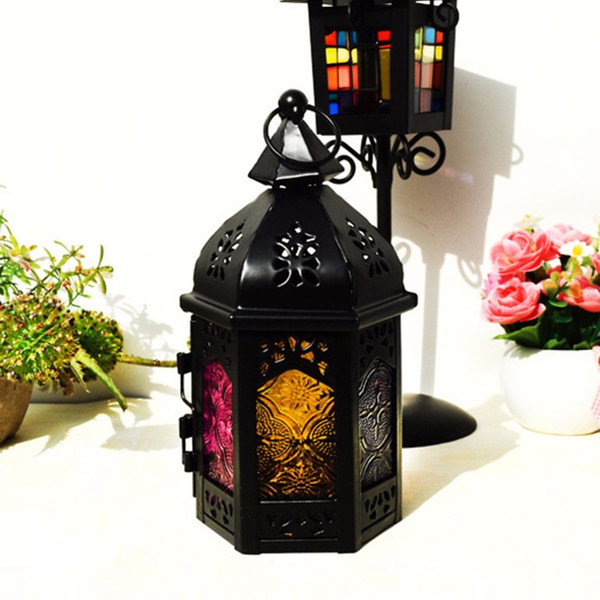 Article Style Lighthouse Wrought Iron Art Candlestick Candle Holders Home Wedding Decoration Hollow Out Lanterns Handicrafts