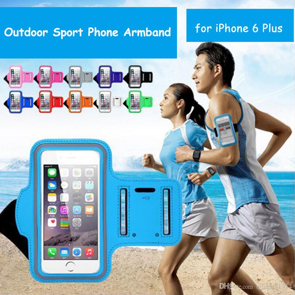 New Runner Jogging Outdoor Sports Armband Bag Wallet Pouch Cell Phone Cover Case for iPhone 6 Plus 5.5 inch
